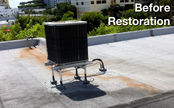 Miami roof in need of restoration