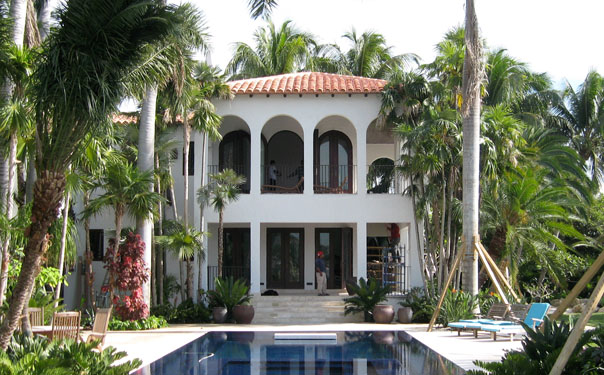 Luxury home tile roof