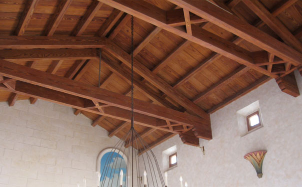 Ceiling restored by JW Roofing craftsman